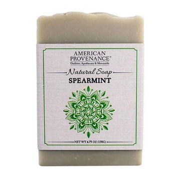 American Provenance 232446 4.75 oz Family Spearmint Natural Bar Soap - 6 Bars