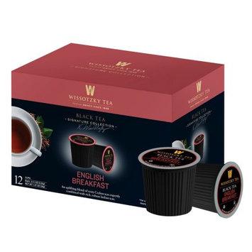 Wissotzky Tea English Breakfast Black Tea Single Serve Cups For Keurig K Cup Brewer, 12 Count