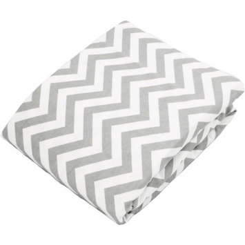 Kushies Baby Fitted Bassinet Sheet Grey Chevron
