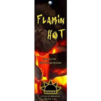 Lot of 5 Flamin Hot bronzer Tanning Lotion Packets by Most Products