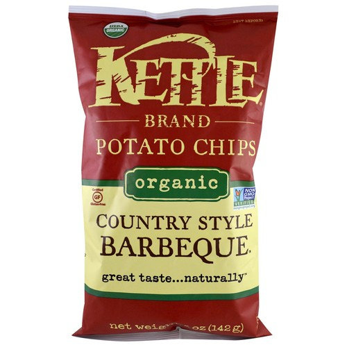 Kettle Foods, Organic Potato Chips, Country Style Barbeque, 5 oz (pack of 1)
