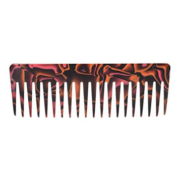 France Luxe Wide Tooth Styling Comb - Marble Coral