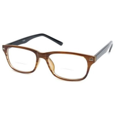 Readers.com The Williamsburg Bifocal +1.25 Brown Stripe Reading Glasses