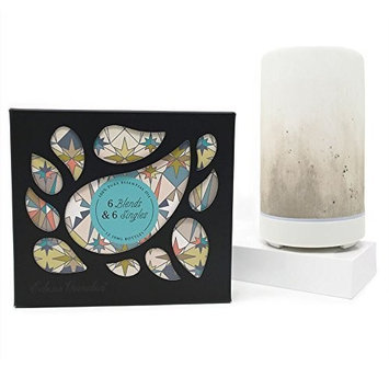 Edens Garden 6 Synergy Blends and 6 Singles Set Ombre Diffuser, Taupe