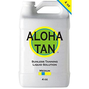 ALOHA TAN - MEDIUM - 4 oz - Best Sunless Self Tanning Liquid Spray Tan Solution for Airbrush Spray Tanning Machine - Best Sunless Self Tanning Liquid Spray Tan Solution, Foam Mousse, Lotion, Tanner