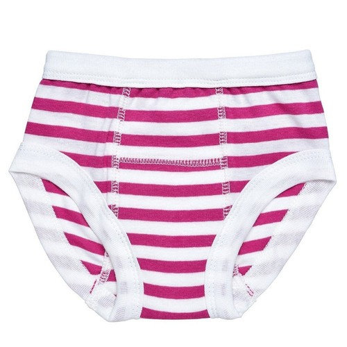 Egyptian Organic Cotton Print Training Pants, Fuschia Stripe, 12-24 Months [Fuschia/White]
