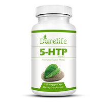 5-HTP Supplement 200 mg Per Veggie Capsule By DureLife, 120 count, Time Release With Vitamin B6 To P