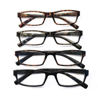 I.Image Men's Plastic 4-Pack Reading Glasses (+2.00)