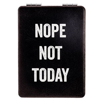 "Snark City's Double Sided Compact Mirror – ""NOPE, NOT TODAY"" – 2xMagnification + Standard Mirror, Pocket-Size, Perfect for Purse and Travel + Sarcastic,..."