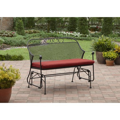Better Homes and Gardens Clayton Court Outdoor Glider, Red