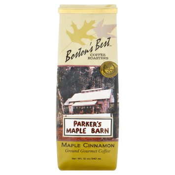 Boston's Best Coffee Roasters Boston's Best Parker's Maple Barn Maple Cinnamon Ground Gourmet Coffee, 12 oz