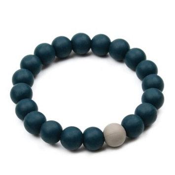 Bumkins Nixi Briesa Silicone Teething Bracelet, Navy