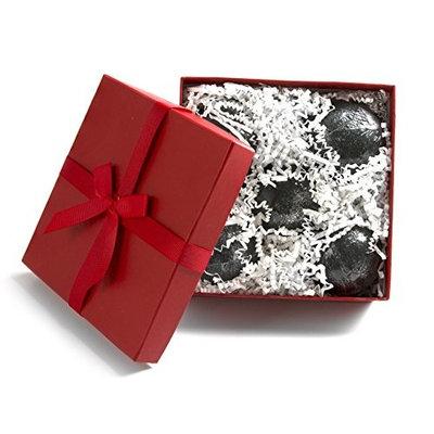 5 pcs. Gift Box Set Black Bath Bombs 5.7 oz Aloe Vera Kaolin Clay scented w/ Little Black Dress