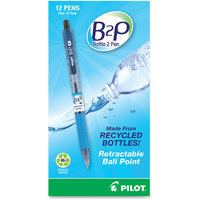Pilot B2P Recycled Ballpoint Pen, 0.7mm, Black Ink, Dozen