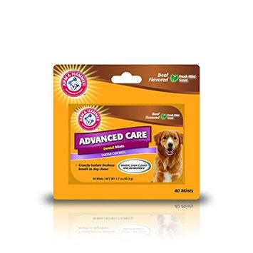 Arm & Hammer Dog Dental Care Breath Bone-Shaped Dental Mints Dogs   Fresh Doggie Breath Without Brushing, Chicken Flavor []