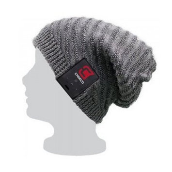 Caseco Slouchy Bluetooth Beanie - Ribbed Grey