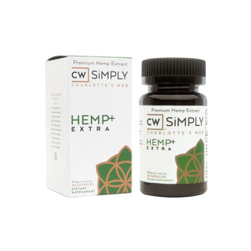 Charlotte's Web By The Stanley Brothers CW SiMPLY Hemp+ Extra Capsules, 30 Ct