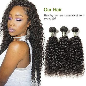 Aosun Hair Unprocessed Brazilian Curly Virgin Hair Weave 3 Bundles Human Hair Extensions In Natural Color 95-100g/pc (12,12,12)