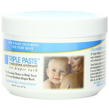 Triple Paste Medicated Ointment for Diaper Rash, 8-Ounce - Pack of 3
