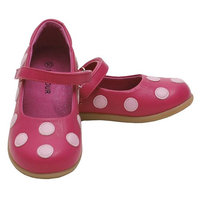 L'Amour Fuchsia Pink Polka Dot Mary Jane Shoes Toddler 5-Little Girl 2