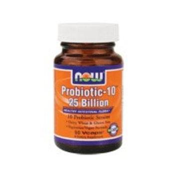 NOW Probiotic-10 25 Billion - 50 Veg Capsules, 2 Pack