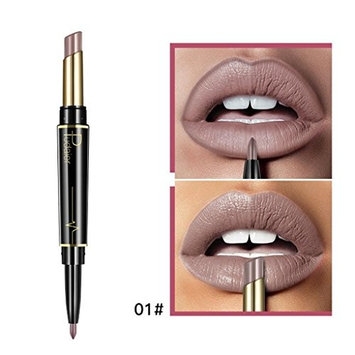 2-in-1 Lipstick Pen Lip Liner Double head 16 colors available Waterproof Lasting Lip Liner Stick Pencil,Matte color by CYCTECH