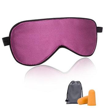 Sleep Mask, MLVOC Natural Silk Eye Mask Travel Relax Super Soft Blindfold Eyeshade for Men Women Kids (purple)