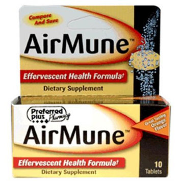 Kpp Airmune Effervescent Health Formula Tablets, Orange Flavor - 10 Ea