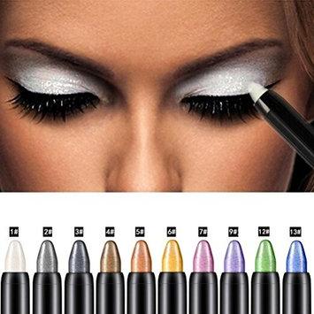 Eyeshadow Pencil, Bestpriceam Big Smokey Eyes Shimmer Eye Shadow Stick Jumbo Eye Shadow Eye Liner Pencil (Green)