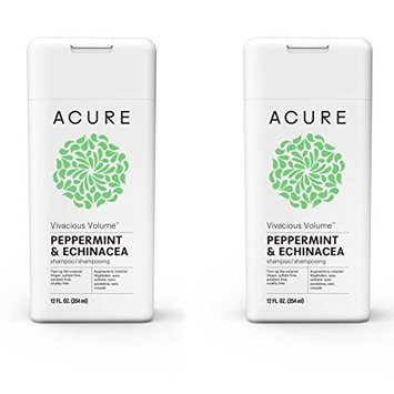 Acure Organics Pure Mint and Echinacea Stem Cell Volume Natural Shampoo (Pack of 2)