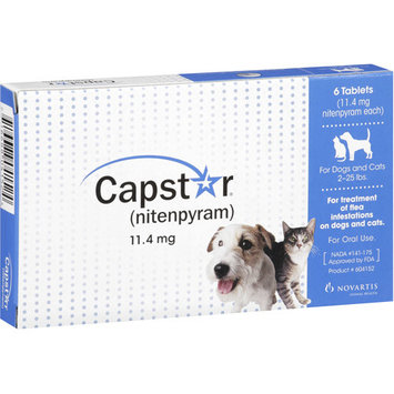 Capstar - Flea Treatment for Dogs and Cats 2-25 lbs. - 6 CT