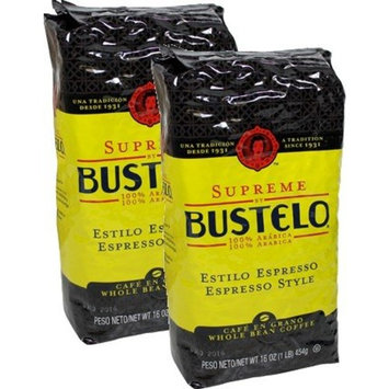 Supreme by Bustelo Whole Bean Espresso Coffee, Two 16-Ounce Bags (2 Pounds)
