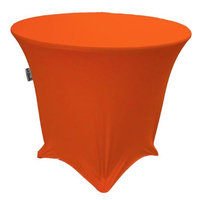 LA Linen TCSpandex36Rx30H-OrangeX48 Round Spandex Tablecloth Orange - 36 x 30 in.