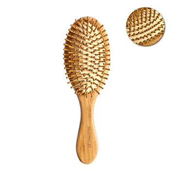 ROSENICE Natural Bamboo Anti-Static Wooden Bristles Massage Scalp Comb Nursing Scalp Hair Comb