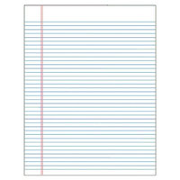 Tops 30 pt. Gum Top Wide Rule Legal Pad Color: White