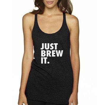 Way 694 - Women's Tank-Top Just Brew It Nike Parody Coffee
