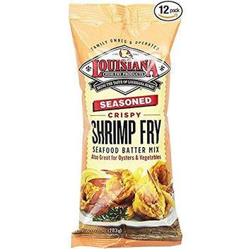 6 pack - Louisiana Fish Fry, Seasoned Crispy Shrimp Fry Seafood Batter Mix, 6-10 ounce bags