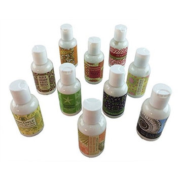 Greenwich Bay Trading Company Sampler Set of 10 Lotions (Tropical Beach Breezes Collection)