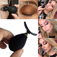 AMA(TM) Silicone Eyeshadow Stamp, Fashion Lazy Eye Shadow Applicator Eye Makeup Tool (Black)