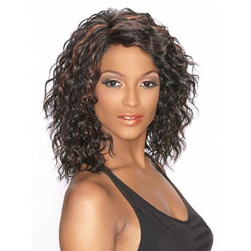 Wendy Wig Color FS1B/33 - Carefree Wigs Mid Length Wavy Synthetic No Bangs African American Womens Side Part Lightweight Average Cap
