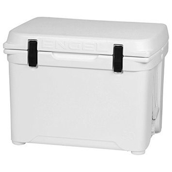Engel ENG50 1.6 Cu. Ft. DeepBlue Roto-Molded High-Performance Cooler with Built-In Handles Stainless Steel Inserts Unity Latch System and Cornerstone Feet in