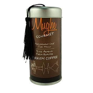 Luxury Ground Turkish Coffee 100% Arabica w/ Cardamom (Greek Coffee) - Roasted in Wood Fire- Freshly Imported from Istanbul - Golden Coffee (Classic Roast Ground, Doypack 18 Oz)