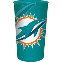 Hoffmaster Group 119517 20 by 1 Count Miami Dolphins 22 oz Plastic Stadium Cup - Case of 20