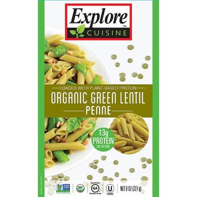 Explore Cuisine Organic Green Lentil Penne - 8 oz pack of 12