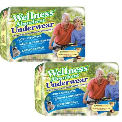 Unique Wellness (Set/2) Wellness Super Absorbent Underwear XL - Manage Incontinence Briefs