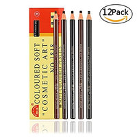 12 Packs 5 Colors Waterproof Eyebrow Pencils Filling And Outlining Tattoo Makeup Supplies Kit Permanent Eye Brow Liners