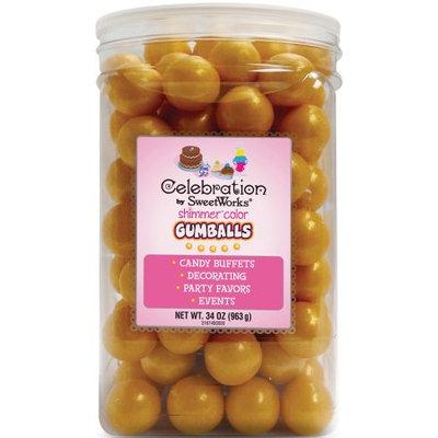 Celebrations By Sweetworks Gumballs 34oz-Shimmer (TM) Gold