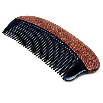 Handmade Natural Buffalo Horn & Red Sandalwood Massage Hair Comb/Beard Comb, Anti Static Pocket Horn Comb 5