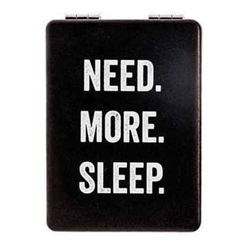 "Snark City's Double Sided Compact Mirror – ""NEED. MORE. SLEEP."" – 2xMagnification + Standard Mirror, Pocket-Size, Perfect for Purse and Travel + Sarcastic, Funny and a bit Sassy"