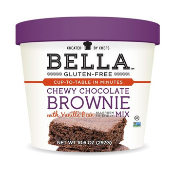 Bella Gluten-Free Chocolate Brownie Mix Premium Casein Free Healthy Flour, 10.5 oz (1 Pack)